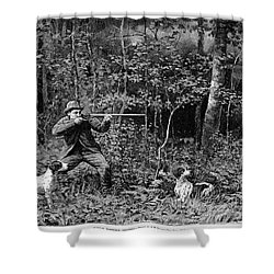 Bird Shooting, 1886 Shower Curtain by Granger
