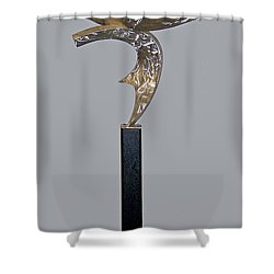 Birth Of The Phoenix Shower Curtain by John Neumann