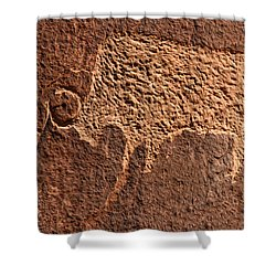Bison Hunt Shower Curtain by David Lee Thompson