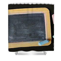 Blackboard Chalk Shower Curtain by Carlos Caetano