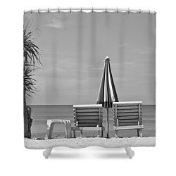 Bliss Is The Beach Shower Curtain by Georgia Fowler