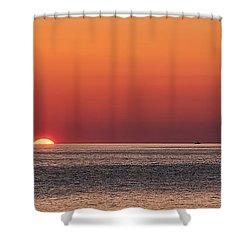 Block Island Sunrise Shower Curtain by William Jobes