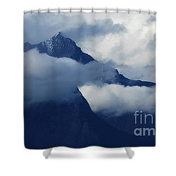 Blue Canadian Rockies Shower Curtain by Bob Christopher