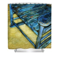 Blue Chair Shower Curtain by Judi Bagwell