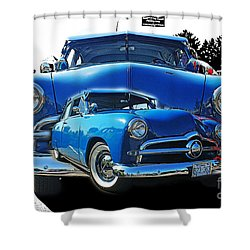 Blue Classic Dbl.hdr Shower Curtain by Randy Harris