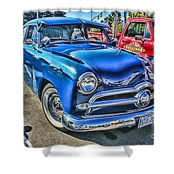 Blue Classic Hdr Shower Curtain by Randy Harris