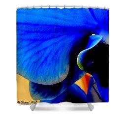 Blue Diamonds Orchids Shower Curtain by Danielle  Parent