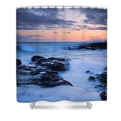 Blue Hawaii Sunset Shower Curtain by Mike  Dawson