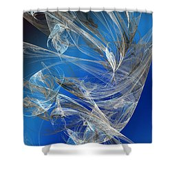 Blue Legacy Shower Curtain by Andee Design