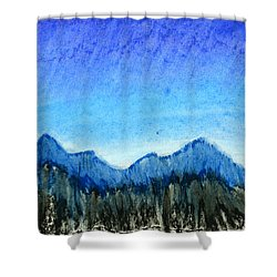 Blue Mountains Shower Curtain by Hakon Soreide