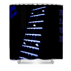 Blue Note Shower Curtain by Bill Cannon
