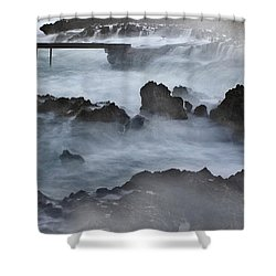 Blue Storm..protaras Shower Curtain by Stelios Kleanthous