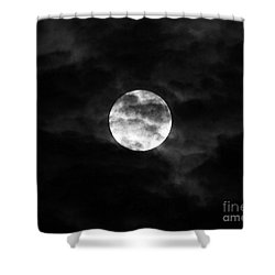 Blustery Blue Moon Shower Curtain by Al Powell Photography USA