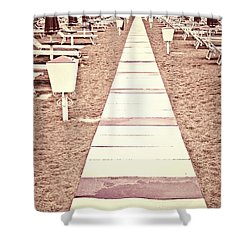 Boardwalk Shower Curtain by Joana Kruse