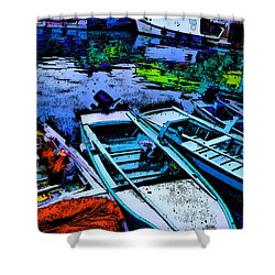 Boats 2 Shower Curtain by Mauro Celotti