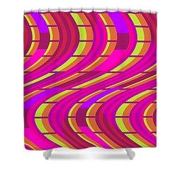 Bold Swirl  Shower Curtain by Louisa Knight