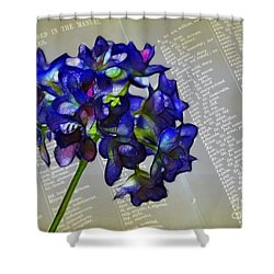 Botany Book Shower Curtain by Judi Bagwell