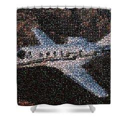 Bottle Cap Cessna Citation Mosaic Shower Curtain by Paul Van Scott