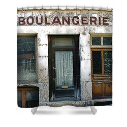 Boulangerie Shower Curtain by Georgia Fowler