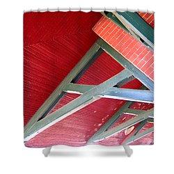 Brick And Wood Truss Shower Curtain by Denise Keegan Frawley