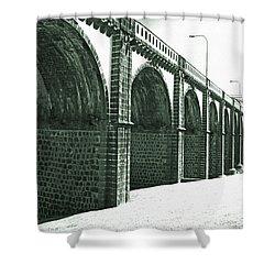 Bridge In Ribeira Grande Shower Curtain by Gaspar Avila