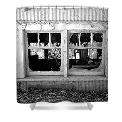 Broken Windows Shower Curtain by Cheryl Young