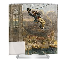 Brooklyn Bridge Mechanic Shower Curtain by Granger