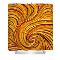 Brown Swirl Shower Curtain by Hakon Soreide