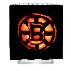 Bruins Carved Pumpkin Shower Curtain by Lloyd Alexander