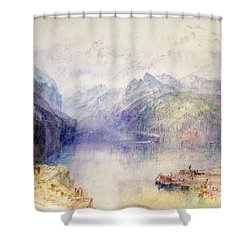 Brunnen  Shower Curtain by Joseph Mallord William Turner