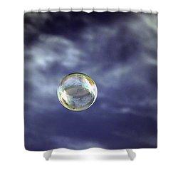 Bubble Self Portrait Shower Curtain by Dan McManus