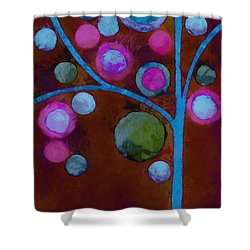 Bubble Tree - W02d - Left Shower Curtain by Variance Collections