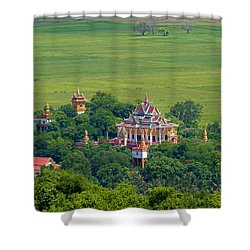 Buddist Temple Shower Curtain by David Freuthal