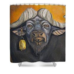 Buffalo Bells Shower Curtain by Leah Saulnier The Painting Maniac