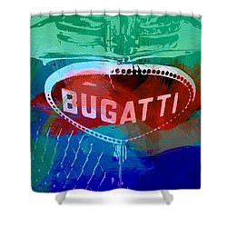 Bugatti Badge Shower Curtain by Naxart Studio