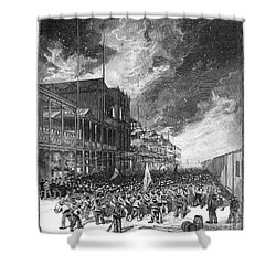 Burning Of Colon, 1885 Shower Curtain by Granger