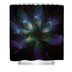 Butterfly Ball Shower Curtain by Amanda Moore