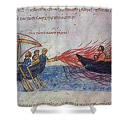 Byzantine Sailors  Shower Curtain by Photo Researchers