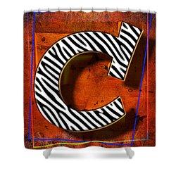 C Shower Curtain by Mauro Celotti