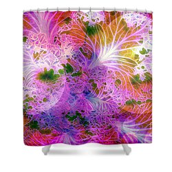 Cabbage Moon Shower Curtain by Judi Bagwell