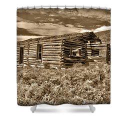 Cabin Fever Shower Curtain by Shane Bechler