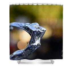 Cadillac Goddess Hood Ornament Shower Curtain by Paul Ward