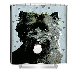 Cairn Terrier Shower Curtain by One Rude Dawg Orcutt