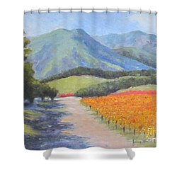 California Shower Curtain by Jeanie Watson