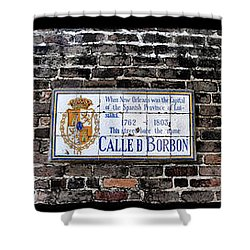 Calle D Borbon Shower Curtain by Bill Cannon