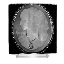 Cameo In Black And White Shower Curtain by Rob Hans