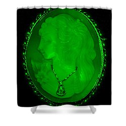 Cameo In Green Shower Curtain by Rob Hans