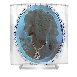 Cameo In Negative  Shower Curtain by Rob Hans