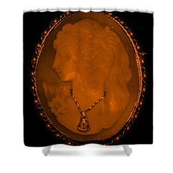 Cameo In Orange Shower Curtain by Rob Hans