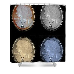 Cameo In Quad Colors Shower Curtain by Rob Hans